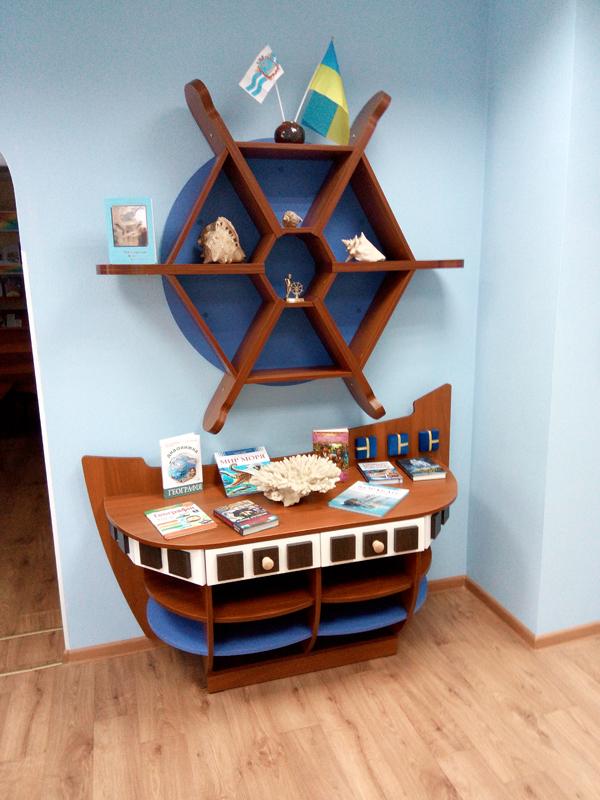 Мебель для библиотек в морском стиле 2