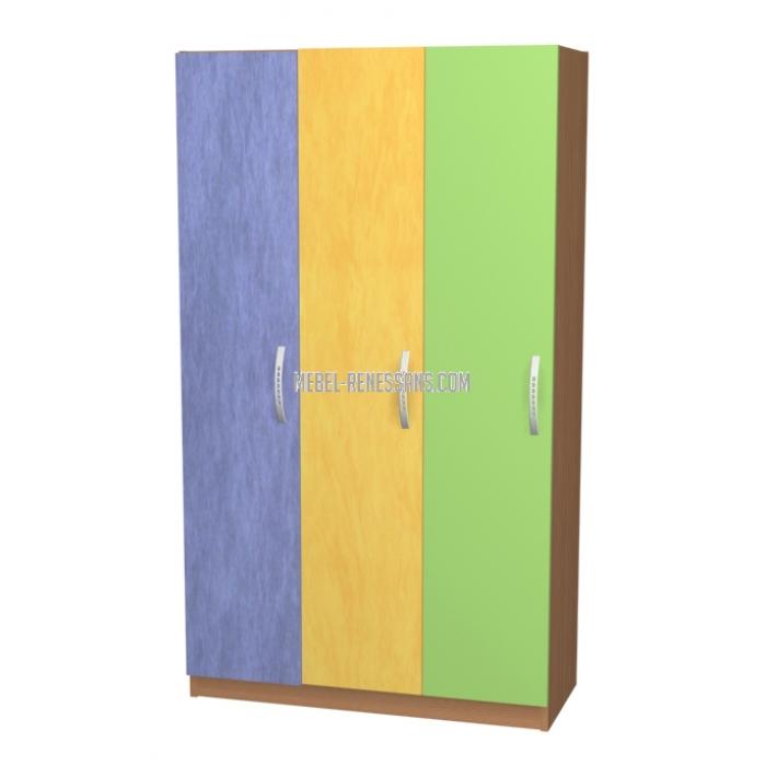 Детский шкаф цвета радуги