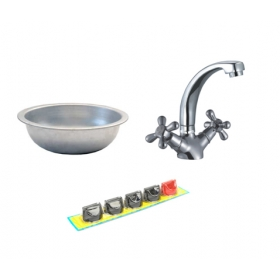 Набор для кухонь (миска, смеситель, 4е регулятора газа)