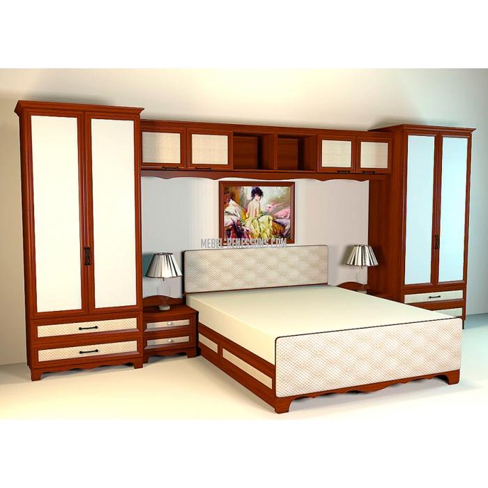 Стильная светлая мебель в спальню молодой семьи