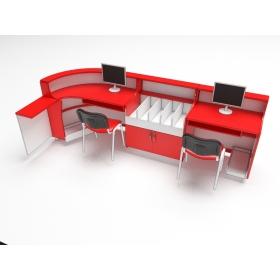 Стіл-кафедра з декор елементами (для 2-х осіб)