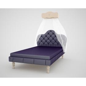Кровать с тканевым изголовьем