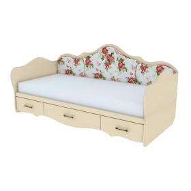 Кровать односпальная с накладками
