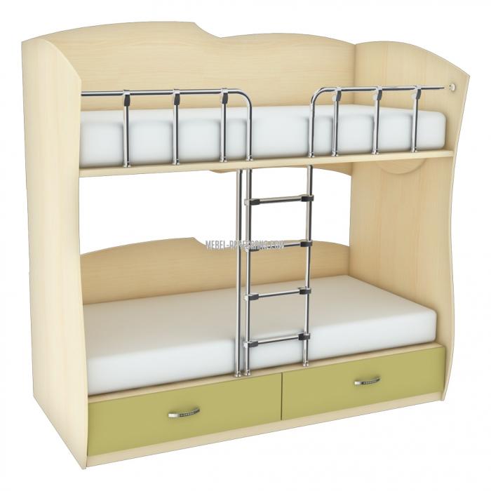 Строго и со вкусом – двухъярусная кровать от фабрики Ренессанс