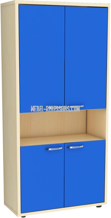 Шкаф детский в синем цвете