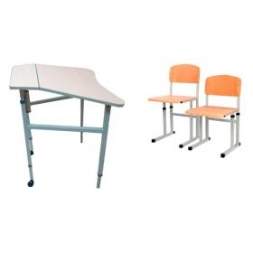 Комплект парта і стільці 3