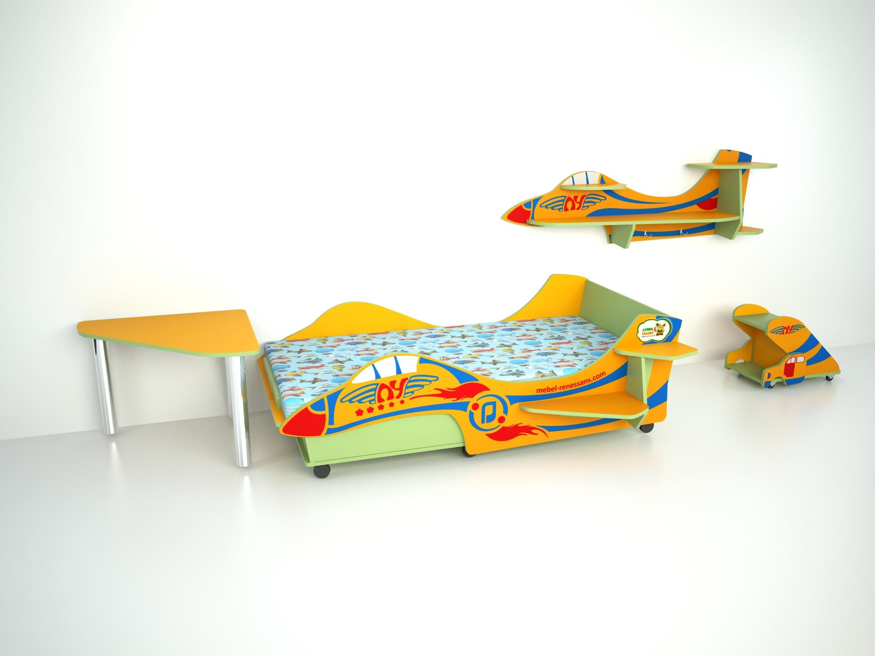 Детская мебель – Полка самолет