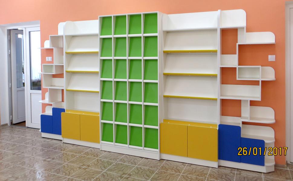 Детская библиотека стеллажи