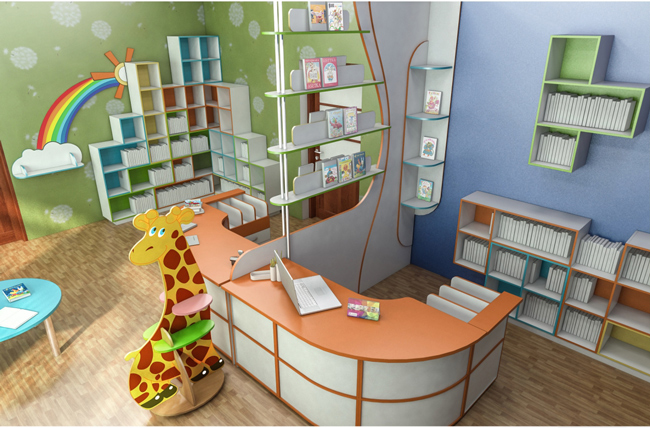 Мебель в детскую библиотеку