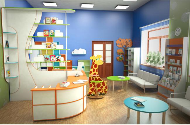 Мебель для детских библиотек на заказ