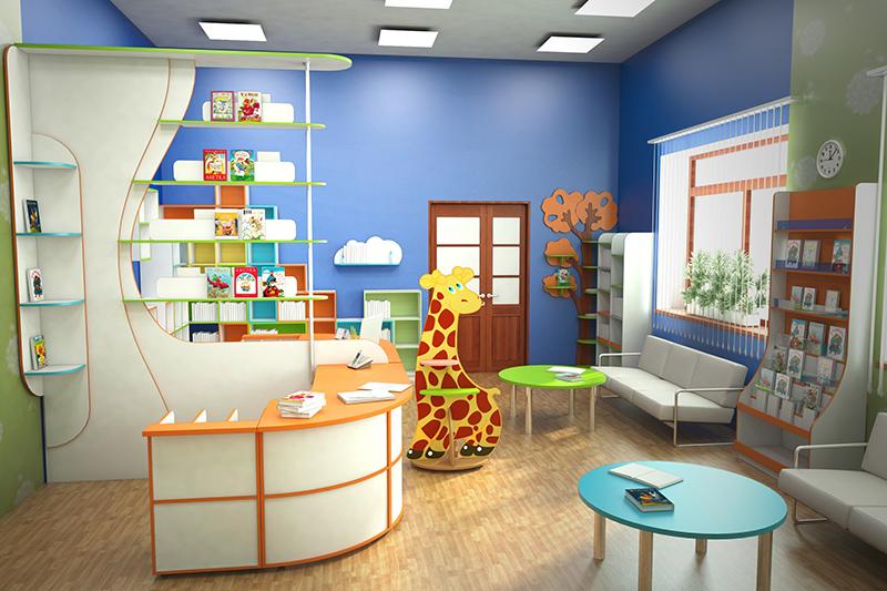 Мебель для детской библиотеки