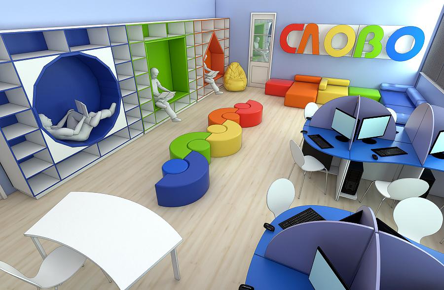 Мебель для читального зала на заказ в Украине 2