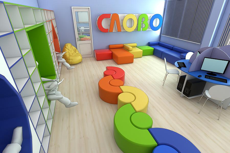 Мебель для читального зала на заказ в Украине 1