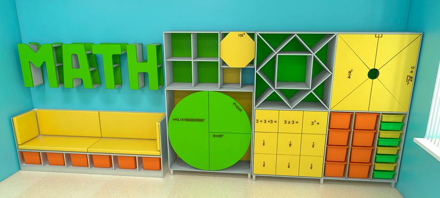 Мебель для школ. Кабинет математики 1