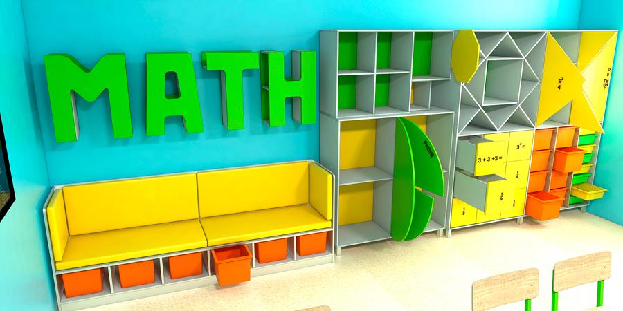 Мебель для школ. Кабинет математики 2