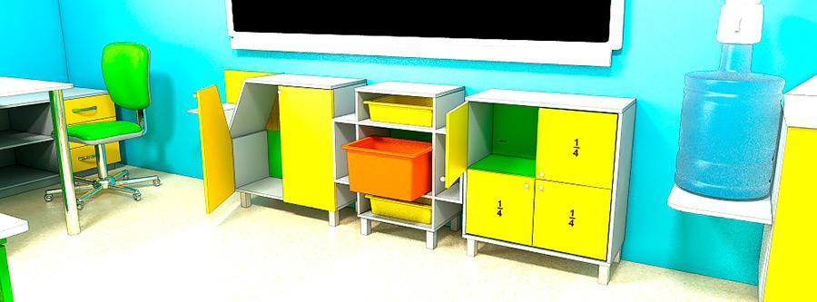 Мебель для школ. Кабинет математики 3