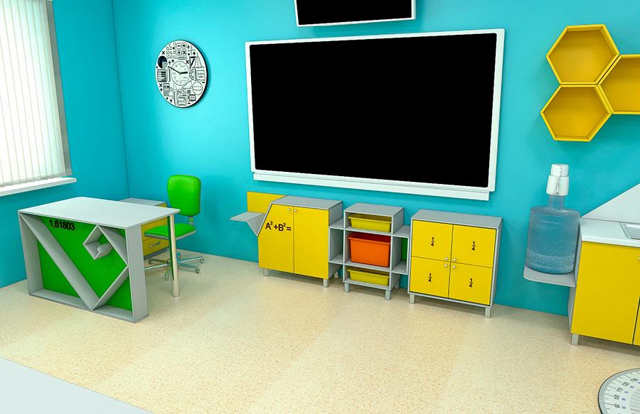 Мебель для школ. Кабинет математики 4