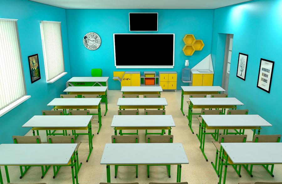 Мебель для школ. Кабинет математики 5
