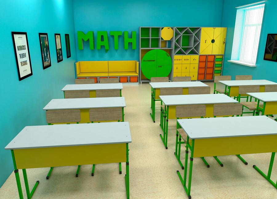 Мебель для школ. Кабинет математики 6