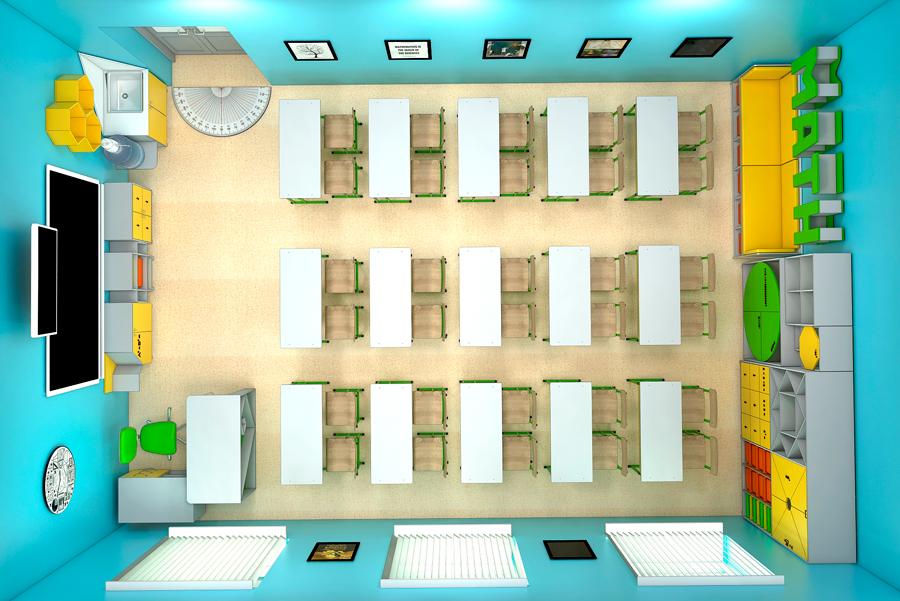 Мебель для школ. Кабинет математики 7