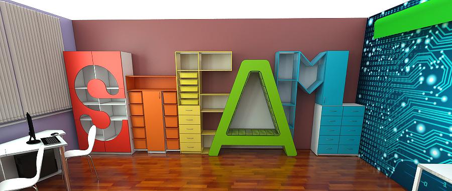 STEAM лаборатория для детей мебель 1