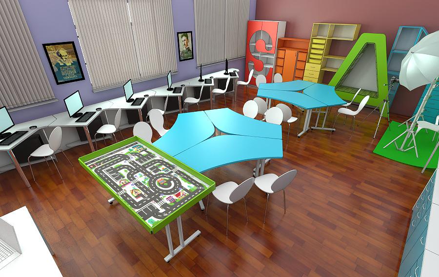 STEAM лаборатория для детей мебель 3