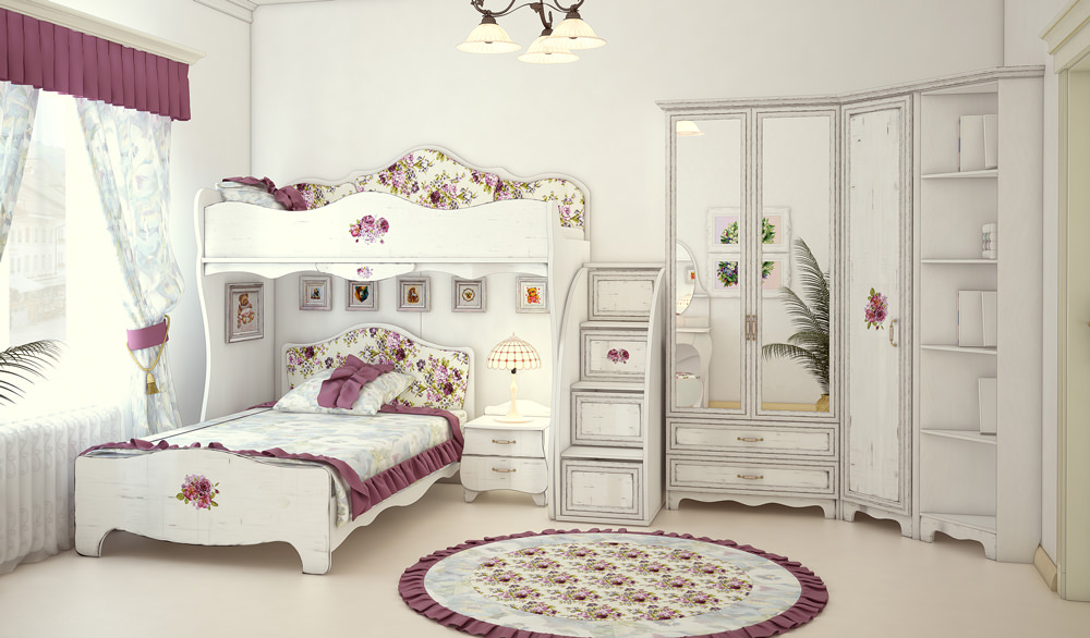 Вариант комнаты в стиле Шебби Шик